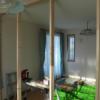 子供部屋にDIYで仕切り壁を作成(2)